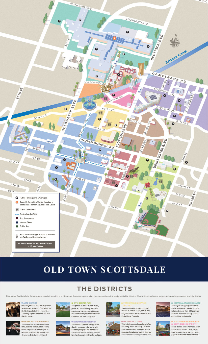 Old Town Scottsdale Map